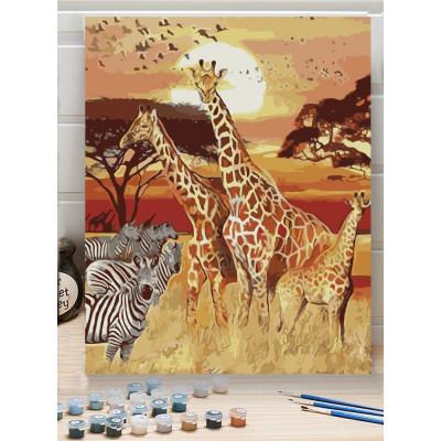 Malování podle čísel - safari