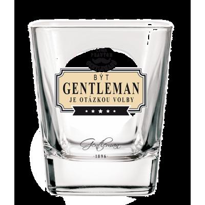 Gentleman Whisky sklenička - Být gentleman je otázkou volby