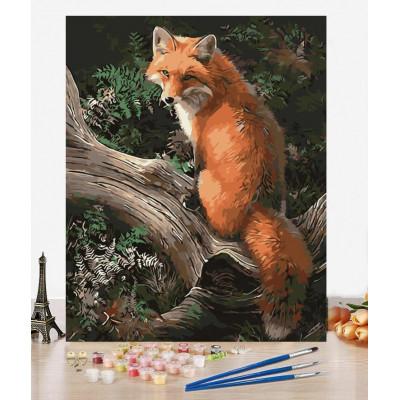 Malování podle čísel - liška