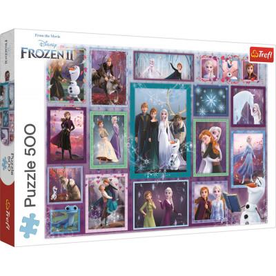 Trefl Puzzle Ledové království: Kouzelná galerie 500 dílků