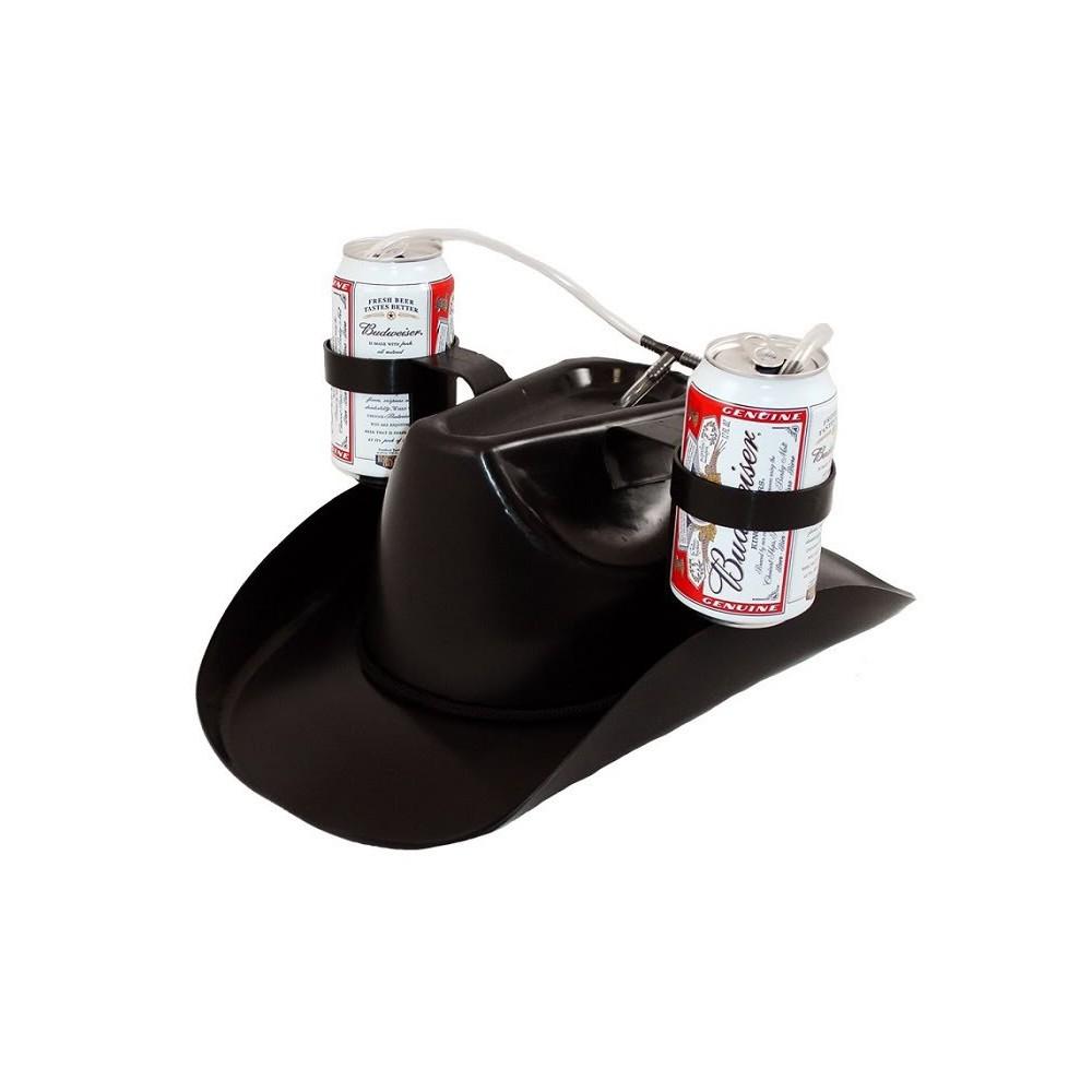 Pivní kovbojský klobouk na 2 plechovky