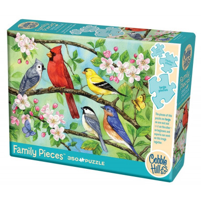 COBBLE HILL Rodinné puzzle Ptáci ve větvích 350 dílků