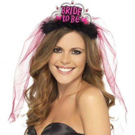 Korunka se závojem - Bride to be - černá