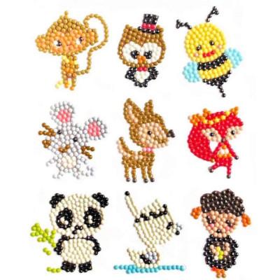 Diamantové malování pro děti samolepky - mix zvířátek