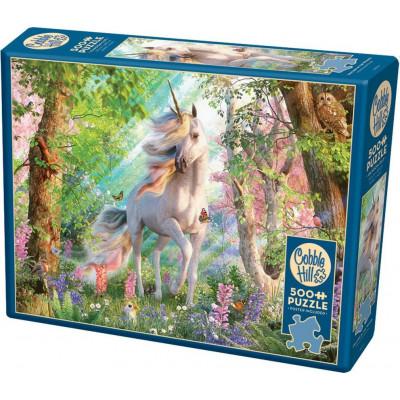 COBBLE HILL Puzzle Jednorožec v lese 500 dílků