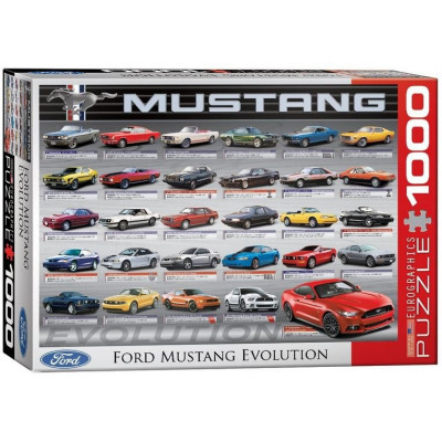 EUROGRAPHICS Puzzle Vývoj Fordu Mustang 1000 dílků