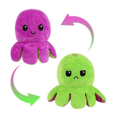 Oboustranný plyšák - chobotnice - fialová