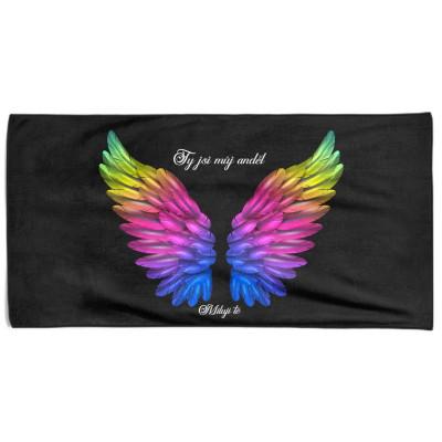 Osuška 140 x 70 cm - Ty jsi můj anděl