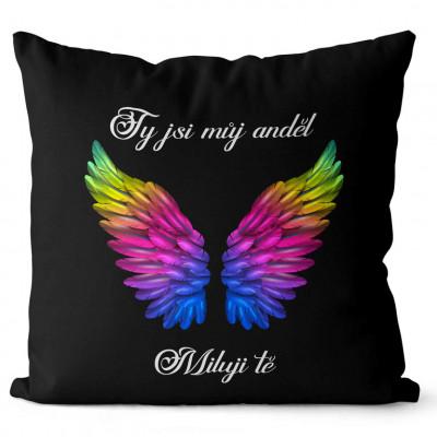Polštář 40 x 40 cm - Ty jsi můj anděl