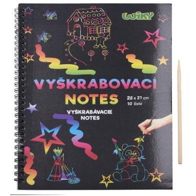 Wiky Vyškrabovací notes 28x21cm - 10 listů