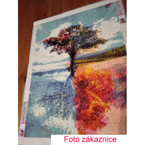 Diamantové malování - strom