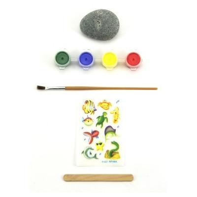 ArtLover Sada malování na kameny/oblázky na kartě - mořský svět
