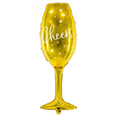 Fóliový balónek 80 cm - Šampaňské zlaté