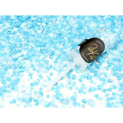 Vystřelovací konfetky Push pop - modré