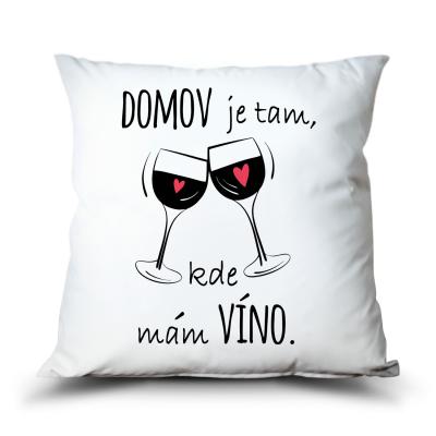 Ahome Polštář - Domov je kde mám víno
