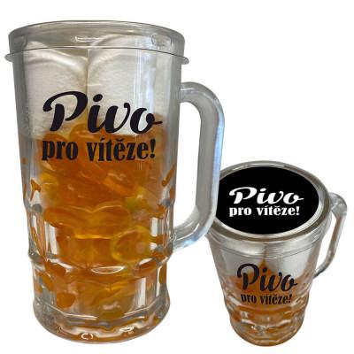 Směs bonbónů 250 g v pivní sklenici - Pivo pro vítěze