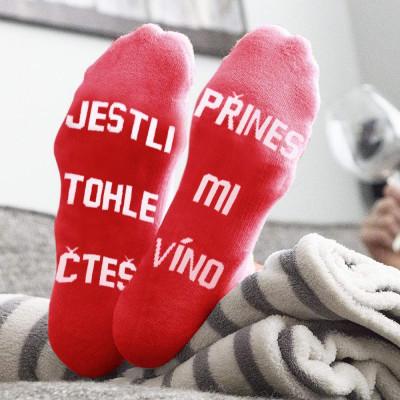 Ponožky - Přines mi víno - vel. uni