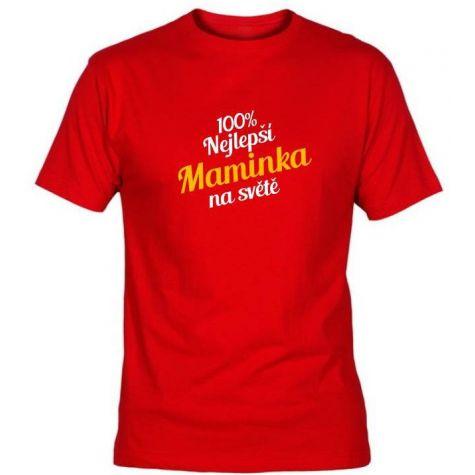 Tričko - Nejlepší maminka - červené