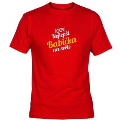 Tričko - Nejlepší babička - červené