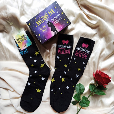 Veselé ponožky - Hvězdný pár sada