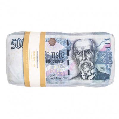3D polštář 43 x 20 cm - Bankovky