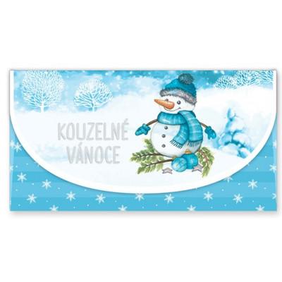 Vánoční obálka na peníze - Kouzelné Vánoce - sněhulák