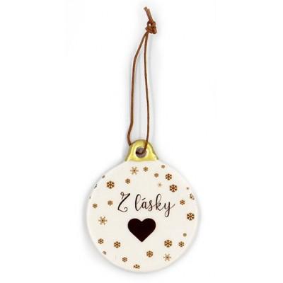 Nekupto Keramická vánoční dekorace - Z lásky