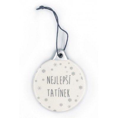 Nekupto Keramická vánoční dekorace - Nejlepší tatínek