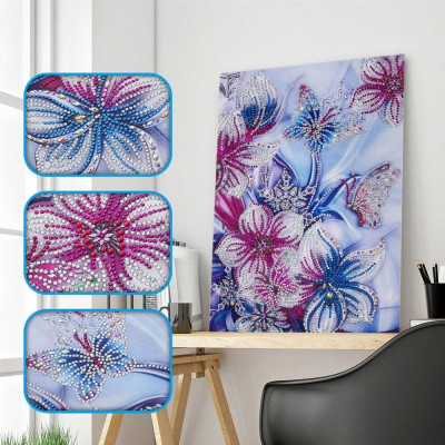 Diamantové malování speciální - květiny