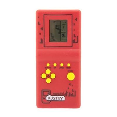 Digitální hra Padající kostky hlavolam na kartě - červená