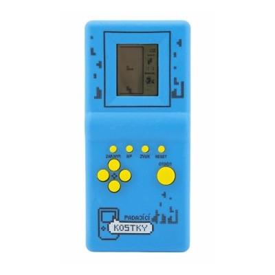 Digitální hra Padající kostky hlavolam na kartě - modrá