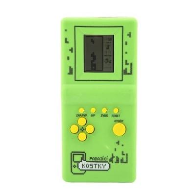 Digitální hra Padající kostky hlavolam na kartě - zelená