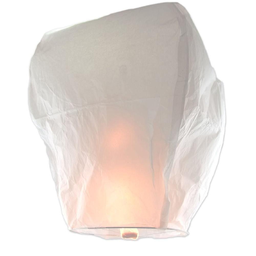 Lampion štěstí - čepice - bílá