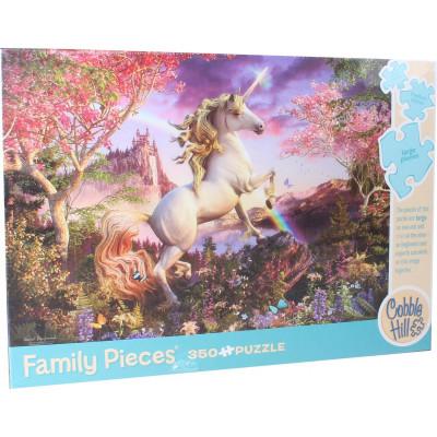 COBBLE HILL Rodinné puzzle Království jednorožce 350 dílků