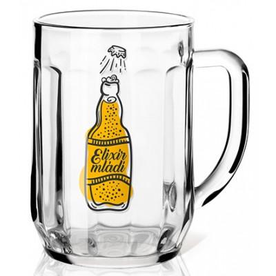 Nekupto Dárková sklenice na pivo 0,3l - Elixír mládí