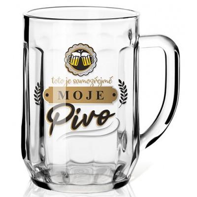 Nekupto Dárková sklenice na pivo 0,5l - Moje pivo