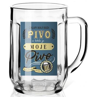 Nekupto Dárková sklenice na pivo 0,5l - Chlapi mají rádi pivo