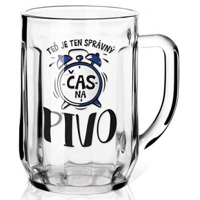 Nekupto Dárková sklenice na pivo 0,5l - Správný čas na pivo