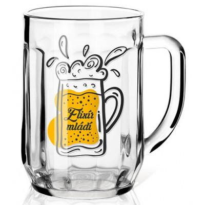 Nekupto Dárková sklenice na pivo 0,5l - Elixír mládí