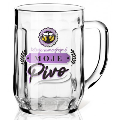 Nekupto Dárková sklenice na pivo 0,3l - Moje pivo