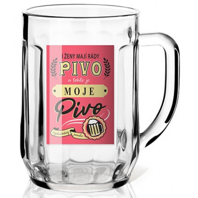 Nekupto Dárková sklenice na pivo 0,3l - I ženy mají rády pivo