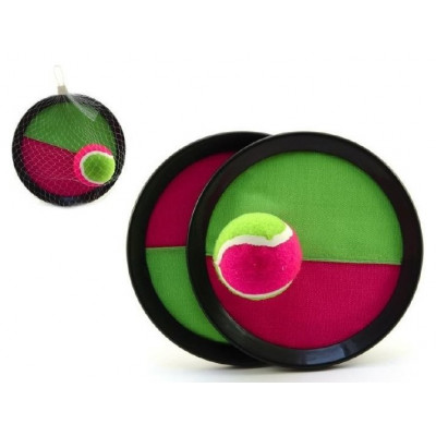 Lambáda/Catch ball hra s míčkem na suchý zip 19cm