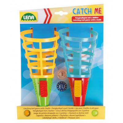 Lena Catch ball 2 hry se 2 míčky plast 19cm
