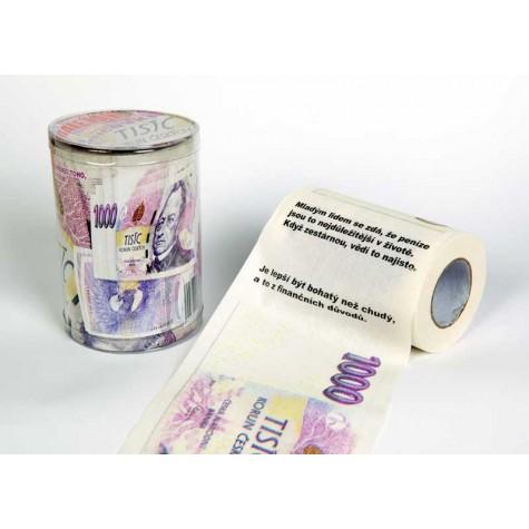 Toaletní papír - tisícovka 1000 Kč