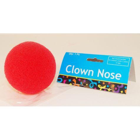 Klaunský nos molitanový - červený