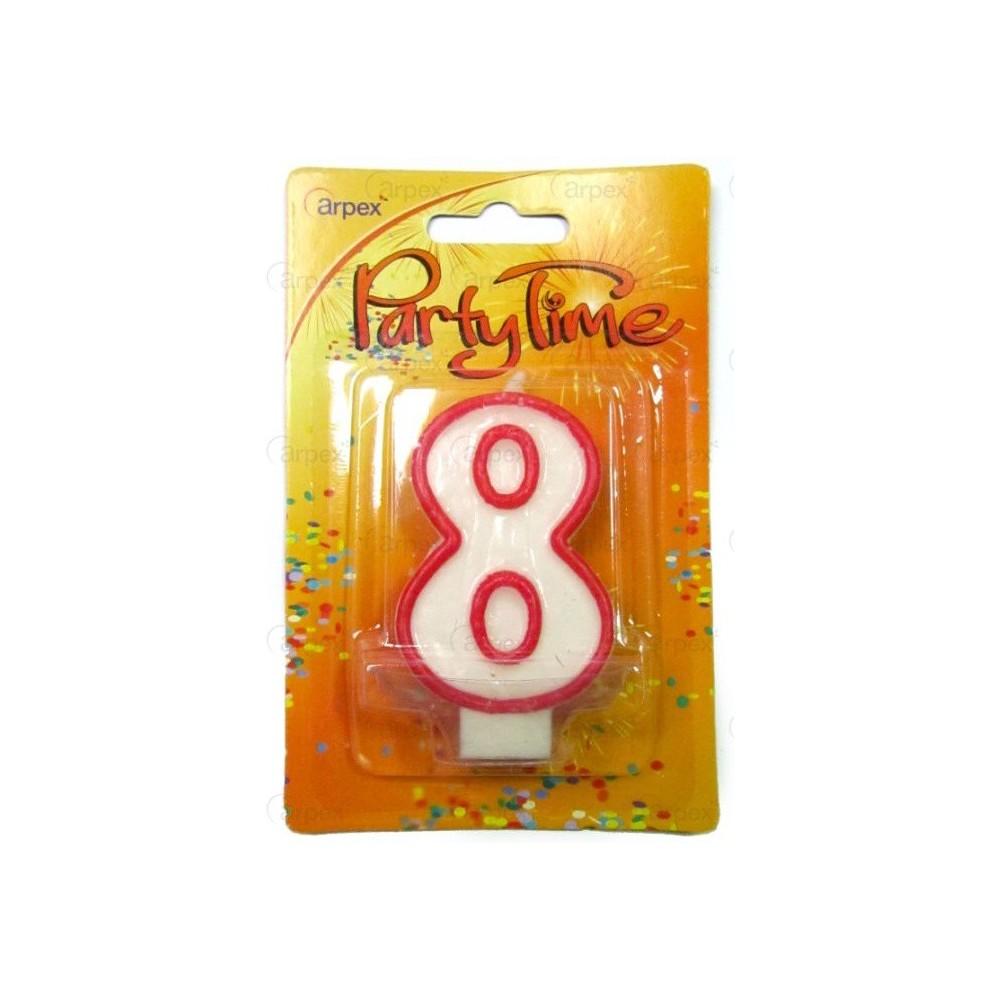 Narozeninová svíčka - číslo - 8