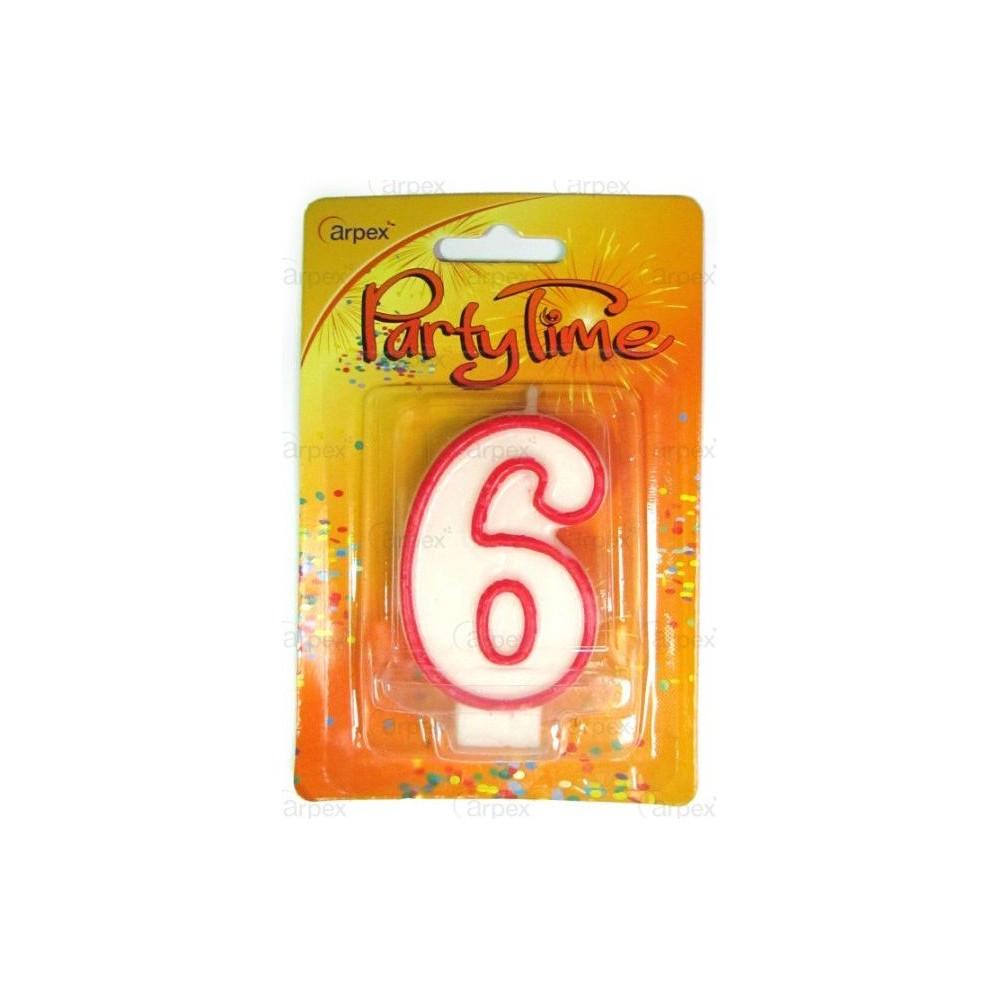 Narozeninová svíčka - číslo - 6