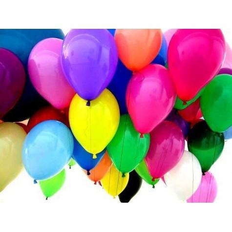 Nafukovací balónky 27 cm - barevné - 100 ks