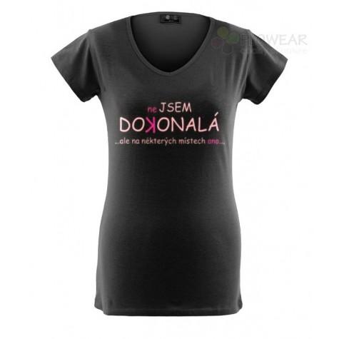Tričko dámské - Nejsem dokonalá - černé