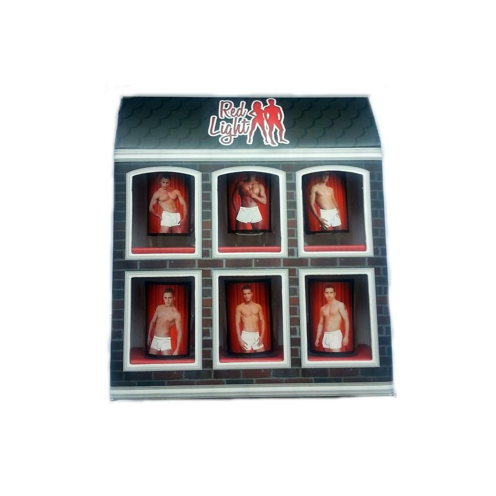 Sada svlékacích panáků 6 ks - Red Light - muži
